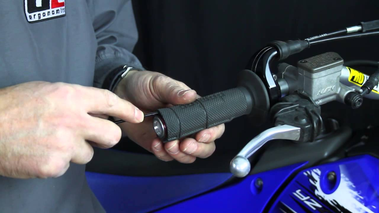 Video about removing the sleeve from a mountain bike handlebar.