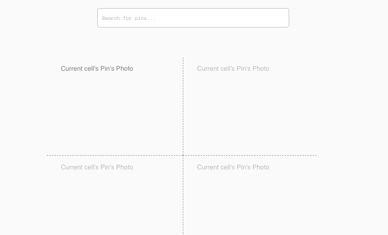Procurando Pins - Site tipo Pinterest