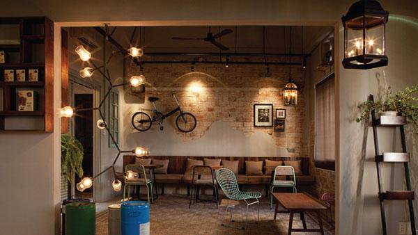 Cách sử dụng đèn trang trí cho quán cafe