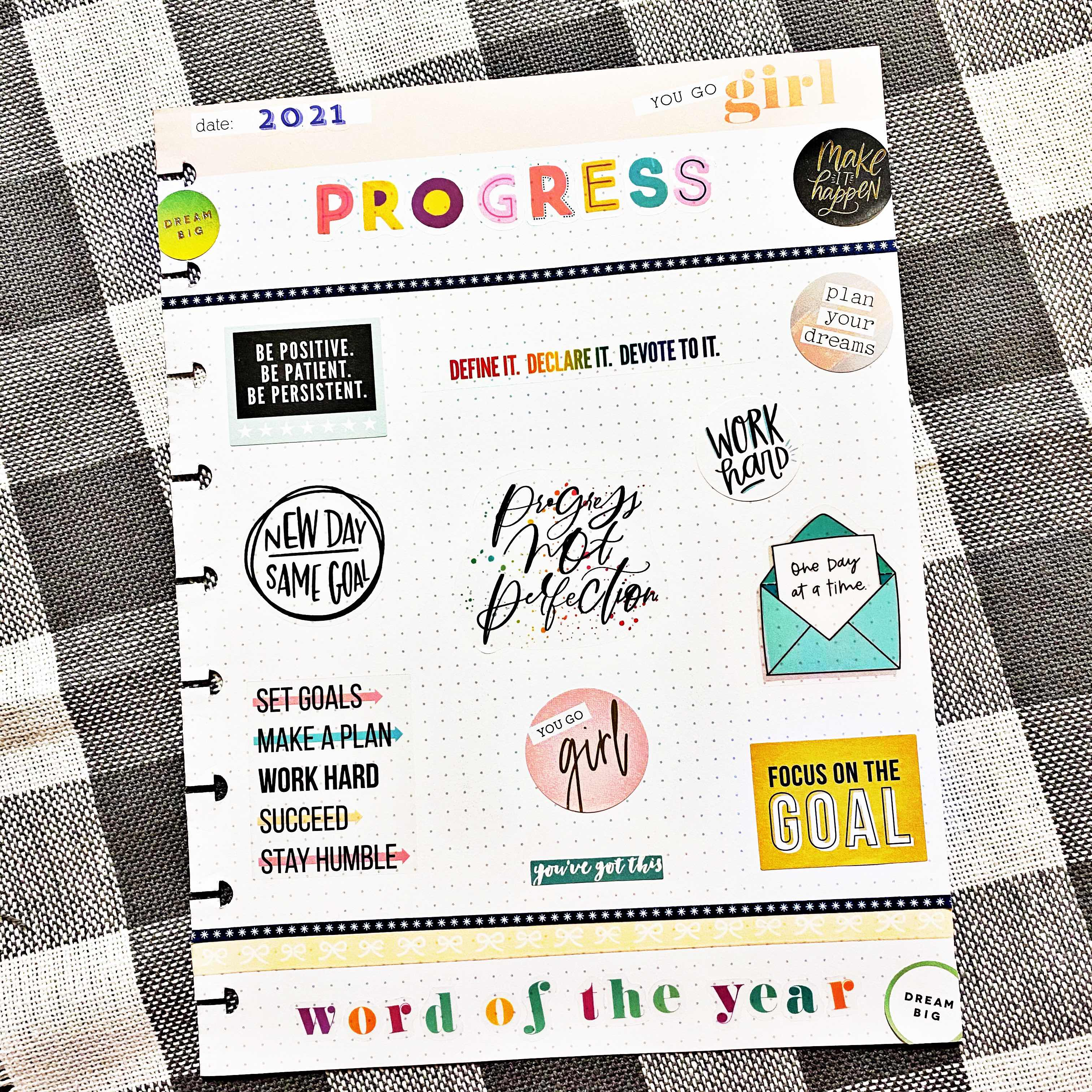 Word Of The Year - Progress