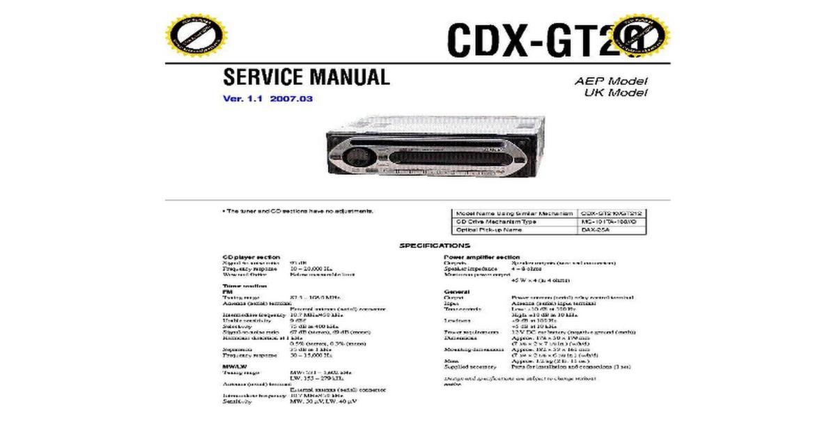 sony cdx-r6550 инструкция на русском