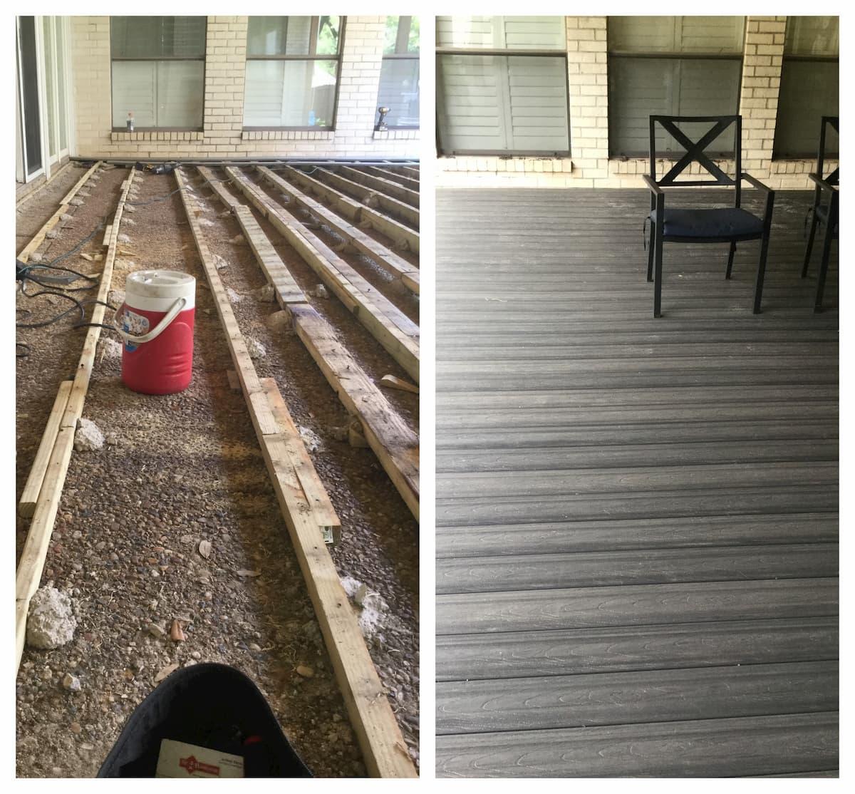 Mr. Handyman deck and patio repair