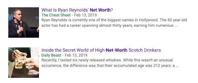 net worth in the news