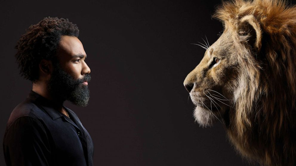 Donald Glover as Adult Simba in the New Lion King Live Action Movie [Source: Disney]