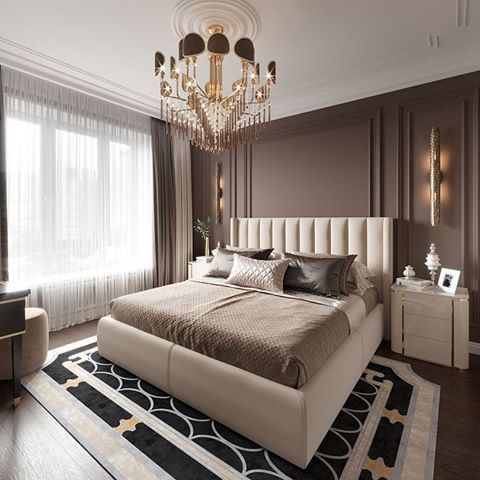 Design a Small Master Bedroom with Chocolate Brown