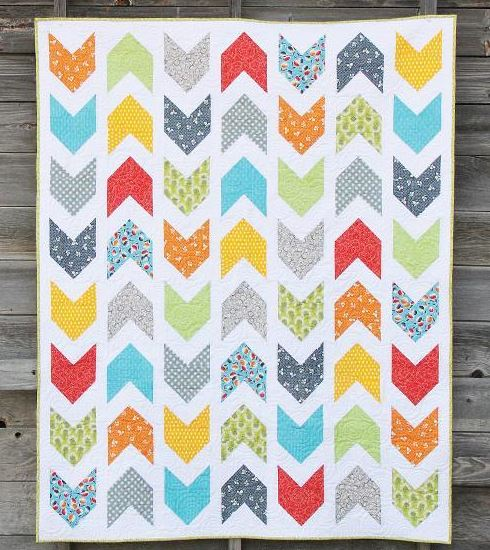 Quilting Featuring Patterned Arrows