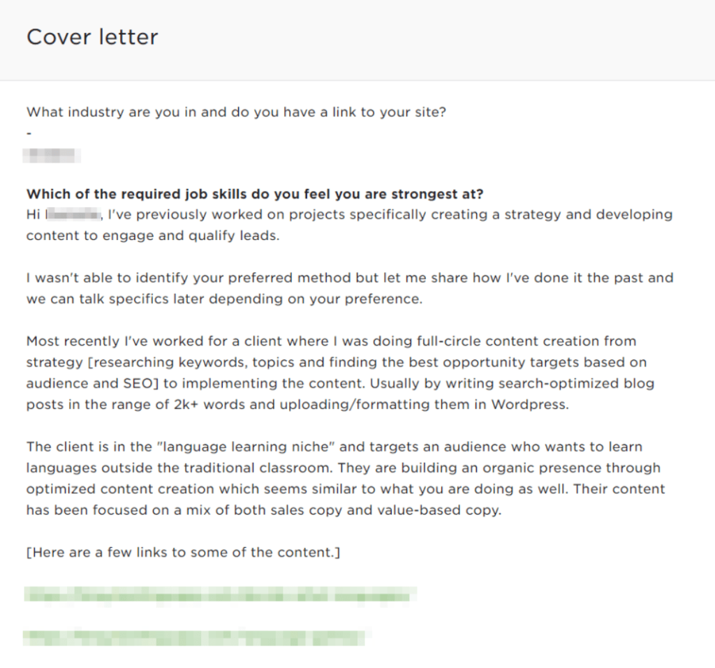 sample freelance proposal letter - cover letter example