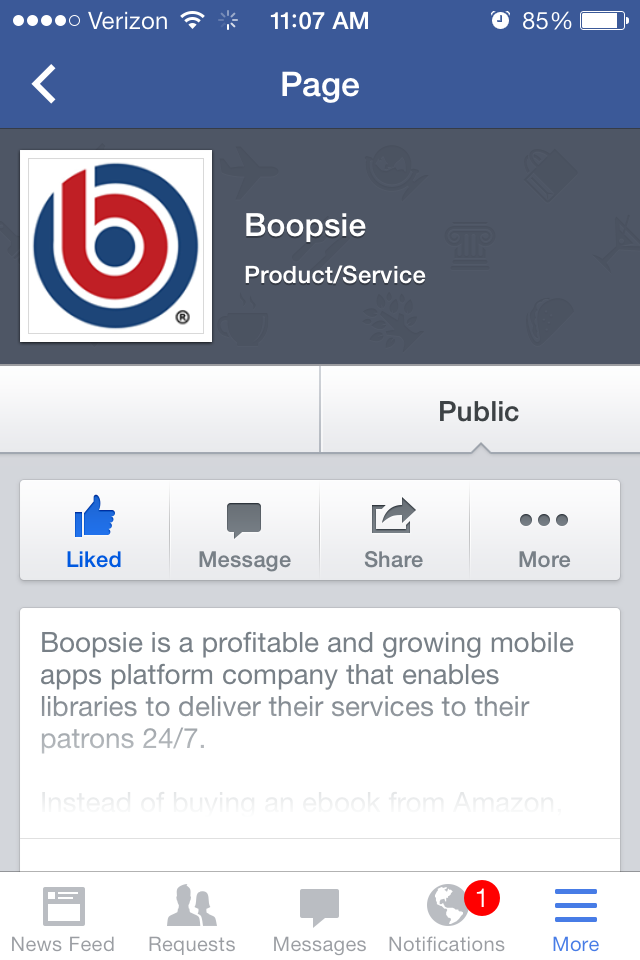 Native Mobile Apps Example of Facebook
