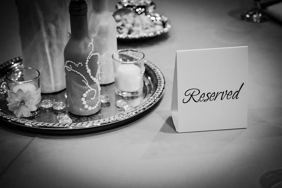 Reserved Sign, Wedding Decorations, Table, Formal