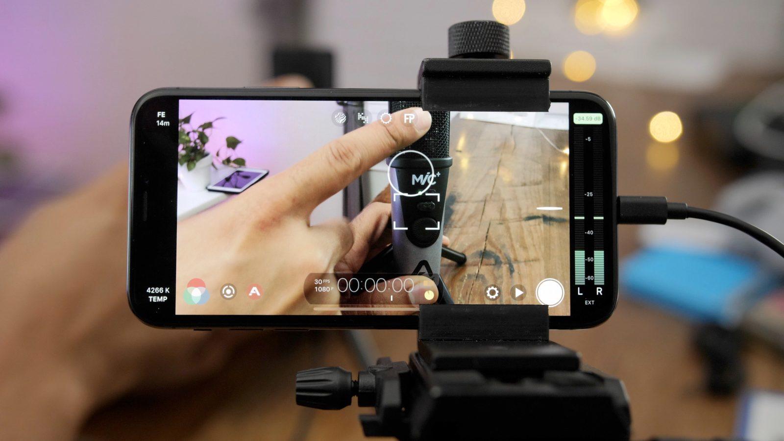 Thiết bị để quay phim bằng điện thoại
