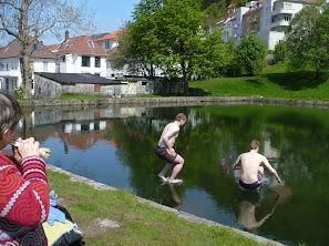 Øystein og Lars Thore går på vannet!