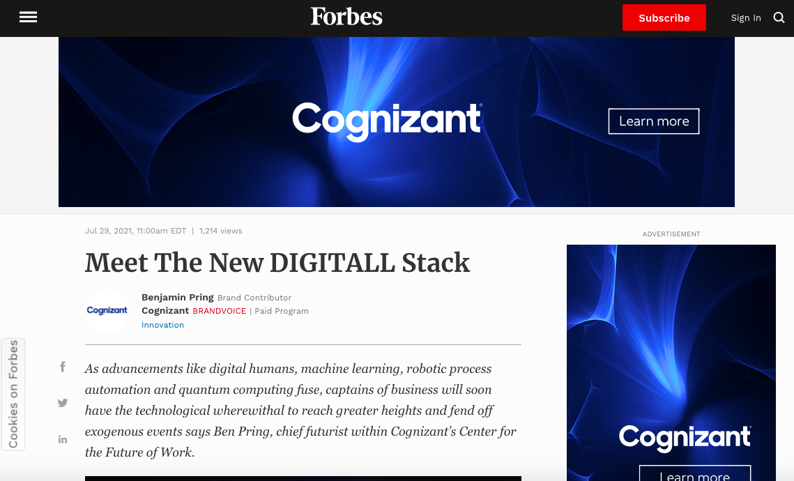 Forbes + Cognizant