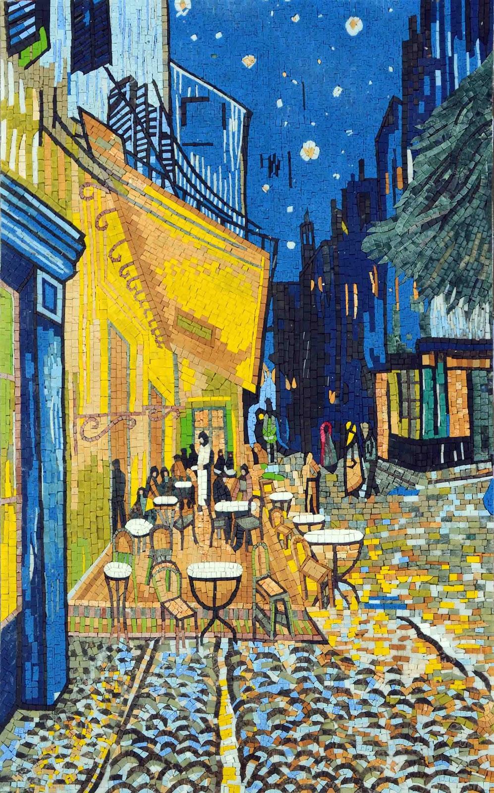 """ Cafe at Night"" by Vincent van Gogh - Mosaic Reproduction"