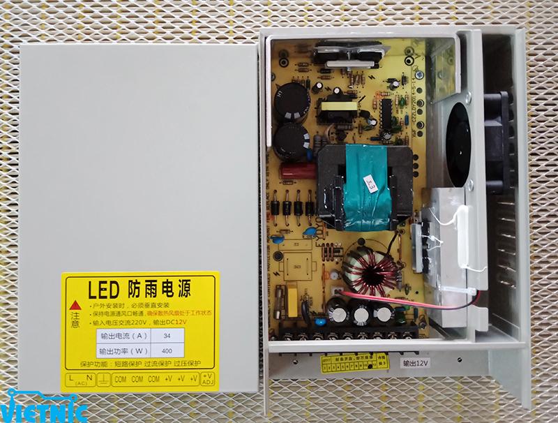Nguồn xung 12V - 34A chống nước - linh kiện điện tử Vietnic
