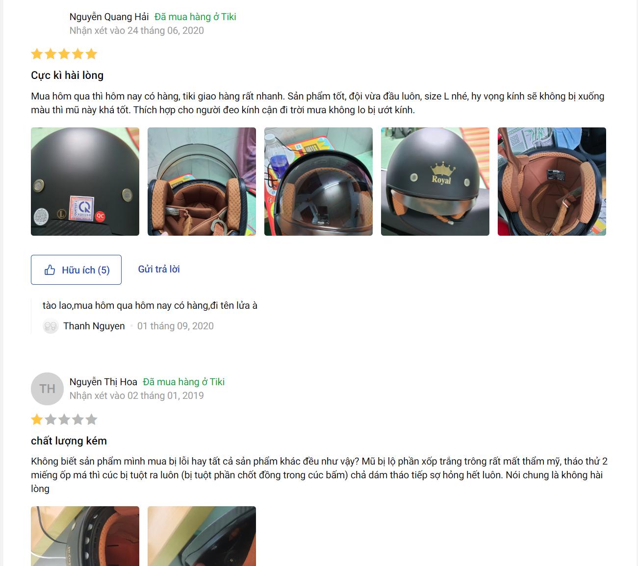 Làm SEO Tiki cần chú ý review người dùng
