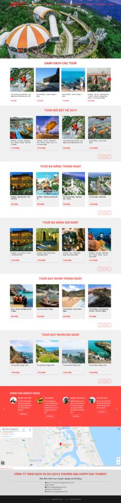 Website thương mại điện tử bán hàng tour du lịch