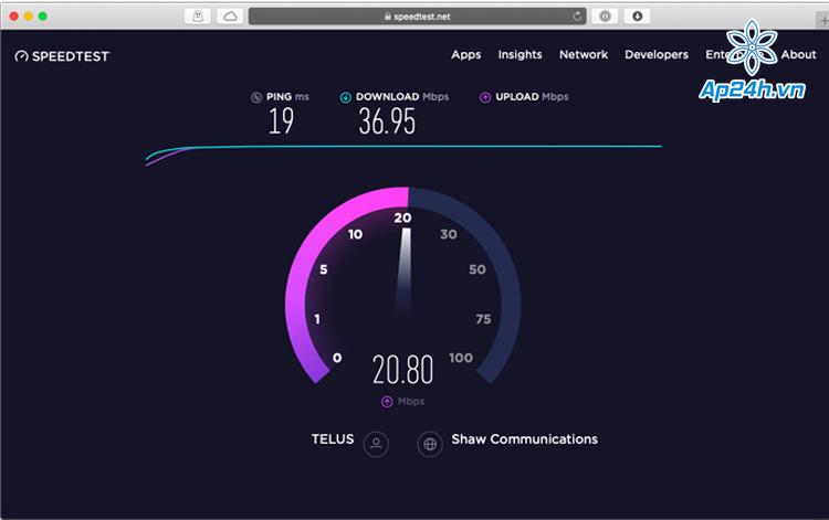 cải thiện tốc độ mạng