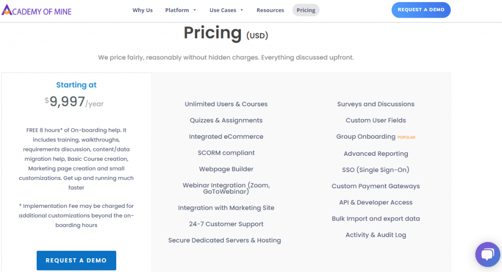 Academy of Mine Pricing