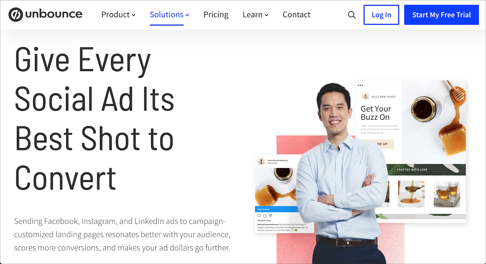 Unbounce Social Ads Landing Page Tools