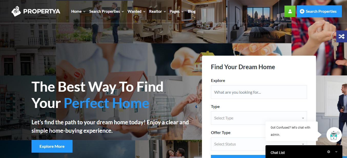 Propertya, WordPress themes with payment gateway