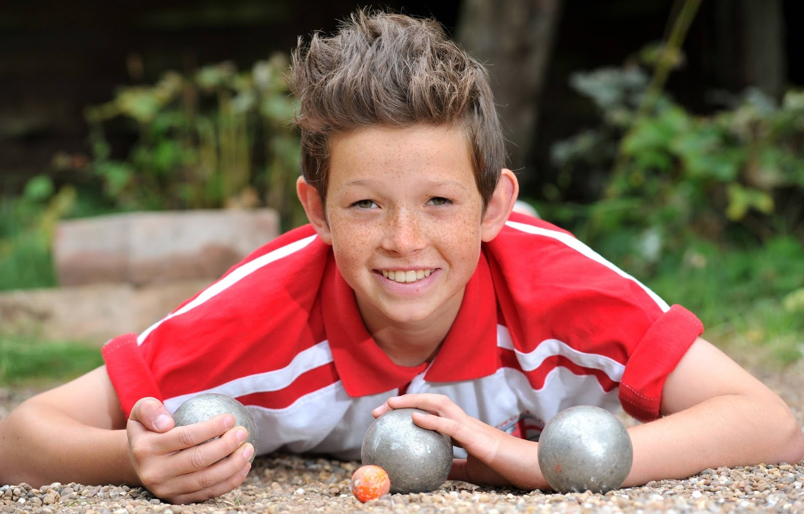 Petanque - Daniel Raine, 12, from the Groby Road area of Leicester, who's going to Thailand in October to represent England in the Petanque championships.