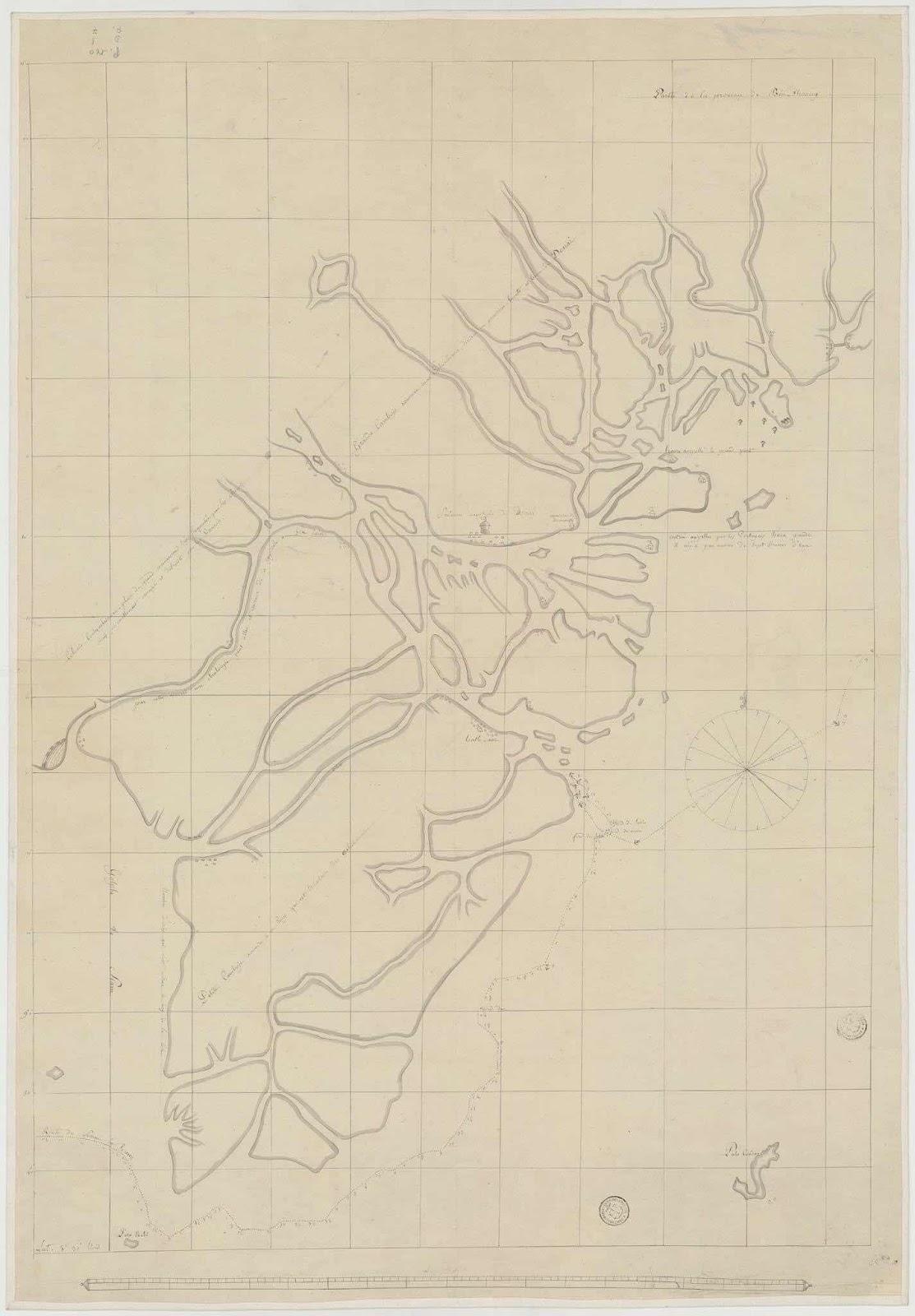 Một tấm bản đồ cực quý có tên Saigon và Đồng Nai năm 1687