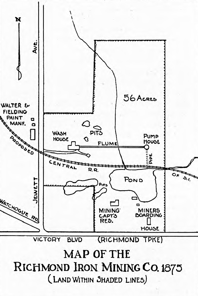 A historic map of the Richmond Iron Mining Co.