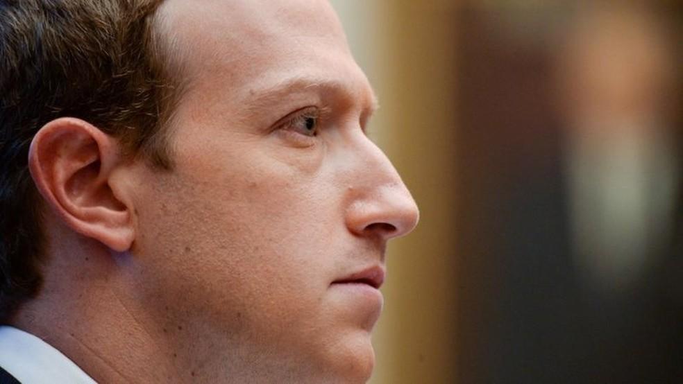 Mark Zuckerberg, presidente-executivo do Facebook — Foto: Reuters via BBC