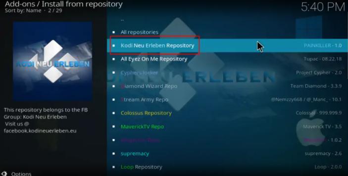 Kodi Neu Erleben Repository