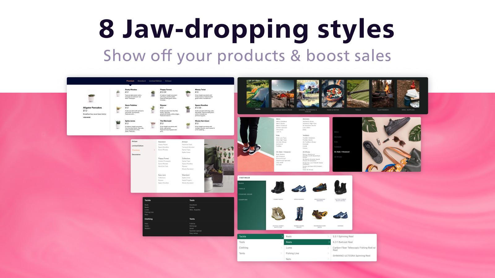 8 jaw-dropping mega menu styles with dropdown navigation