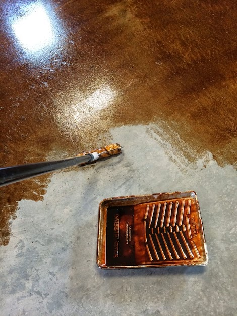 Staining And Finishing Concrete Floors Ana White Woodworking Projects