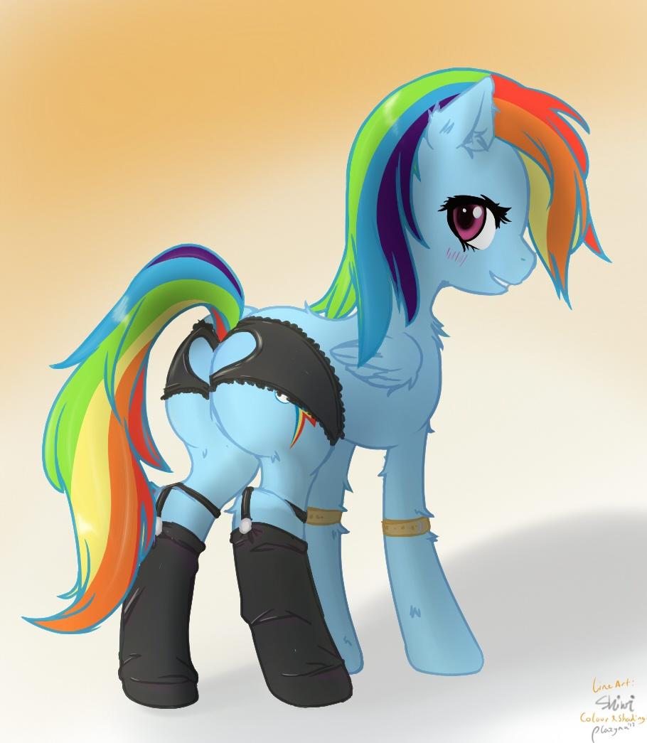 Rainbow dash panties