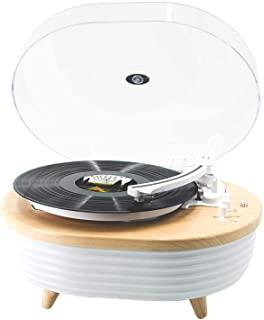 Record Player Turntable, Vinyl Player Bluetooth, Portable Wireless LED Built-in Colorful Stereo Speaker, Vinyl Turntable L...