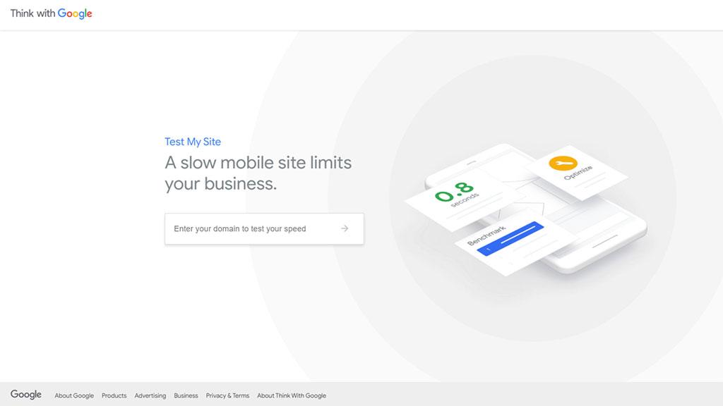 teste de velocidade google test my site