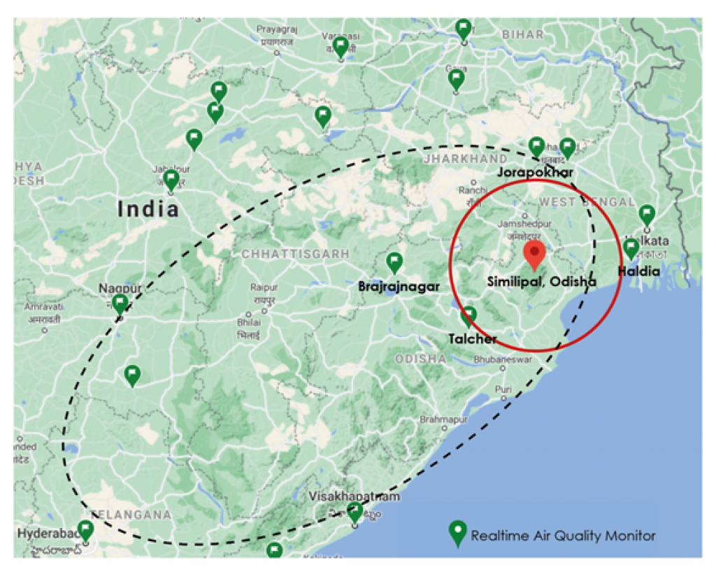 Similipal wildires and the real time air quality monitors in India
