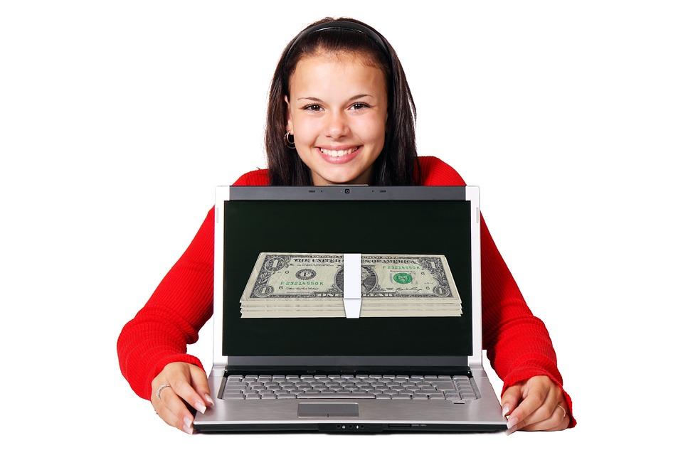 お金を稼ぐ, オンラインでお金を稼ぐ, お金, オンライン, インターネット, 現金, ドル, 技術