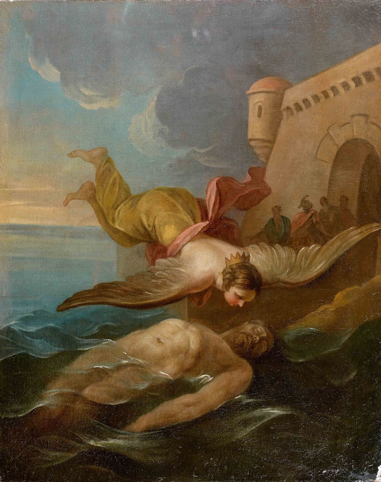 Greek's mythical love stories include Ceyx and Alycone. Mythical love stories: Charles-André van Loo, Ceyx and Alycone, 1750, location unknown.