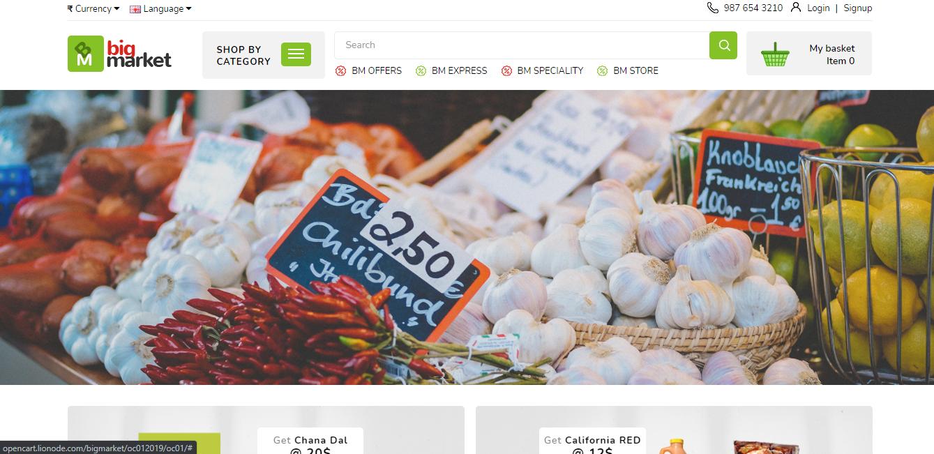 Bigmarket - Opencart ecommerce theme