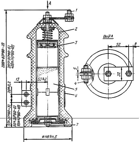 разрядник вентильный внутренней установки