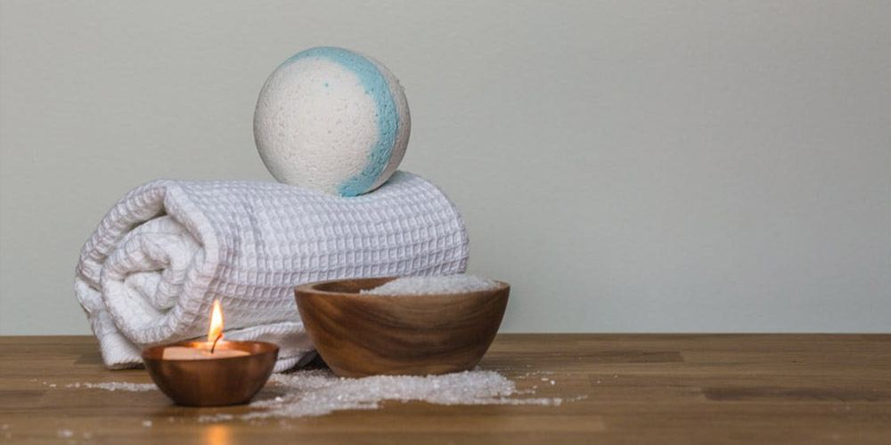 CBD Oil bath bomb