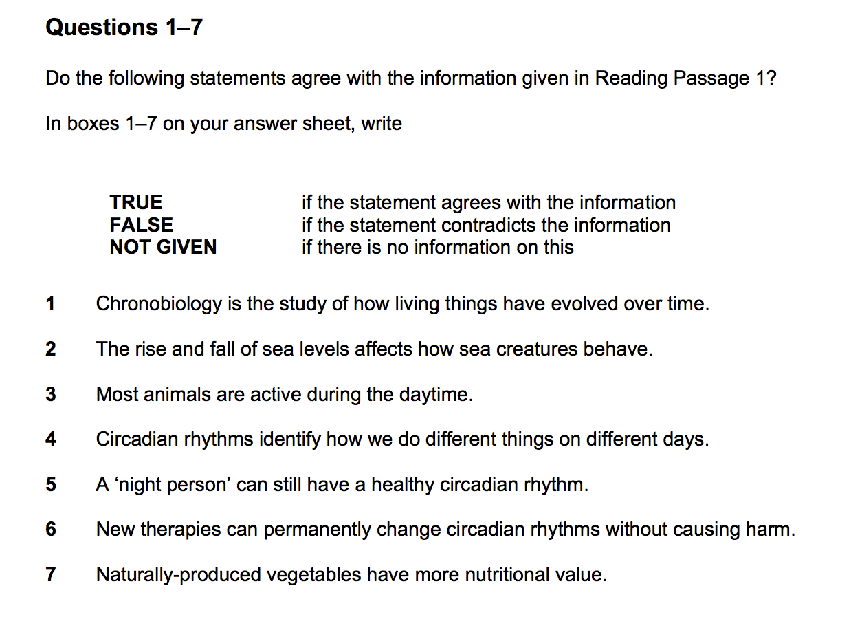 example questions of skimming and scanning