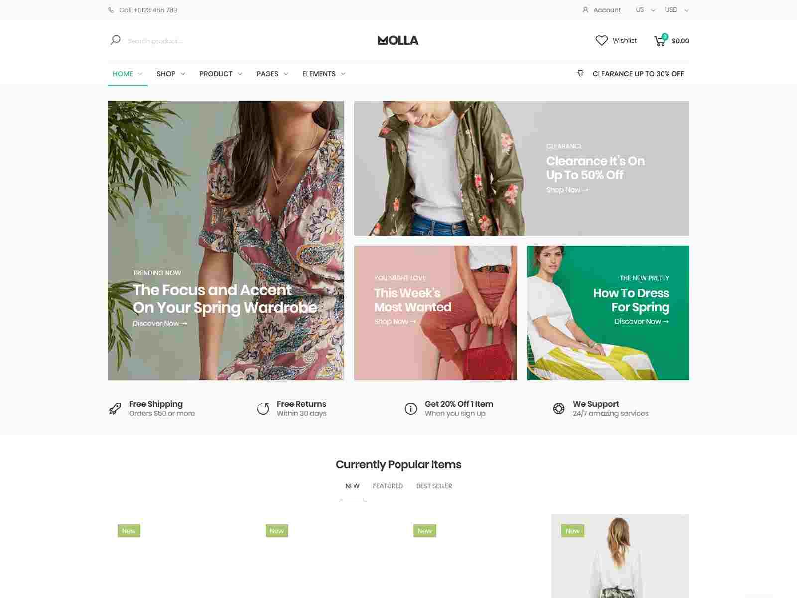 Molla - Magento fashion theme