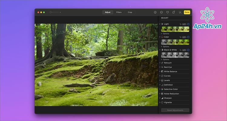 Tổng hợp phần mềm chỉnh sửa ảnh cho Mac Apple Photo