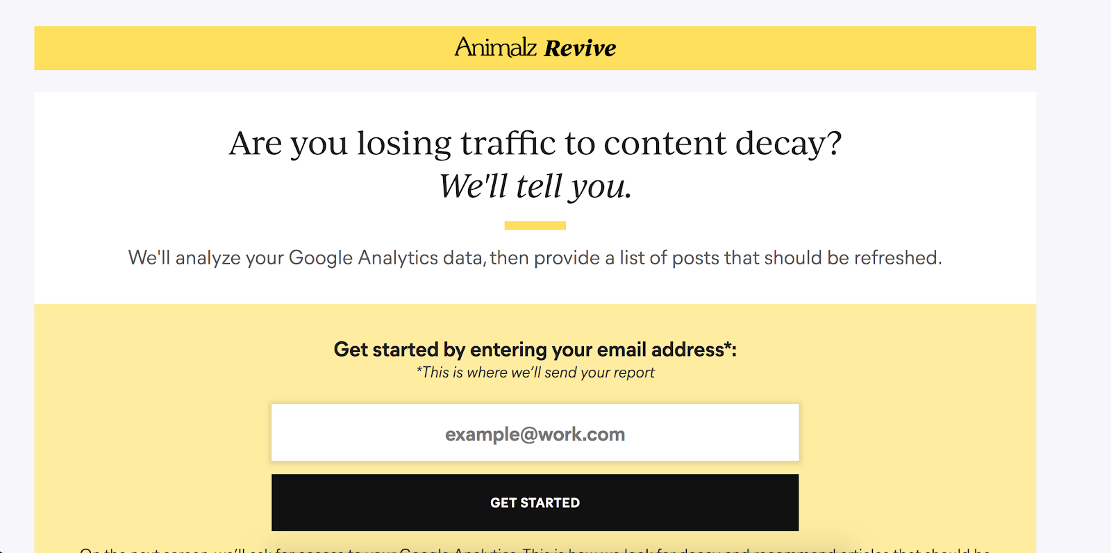 Top Marketing Tool Example #3 - Revive by Animalz | 16 Powerful Marketing Tools You Haven't Considered (But Probably Should)