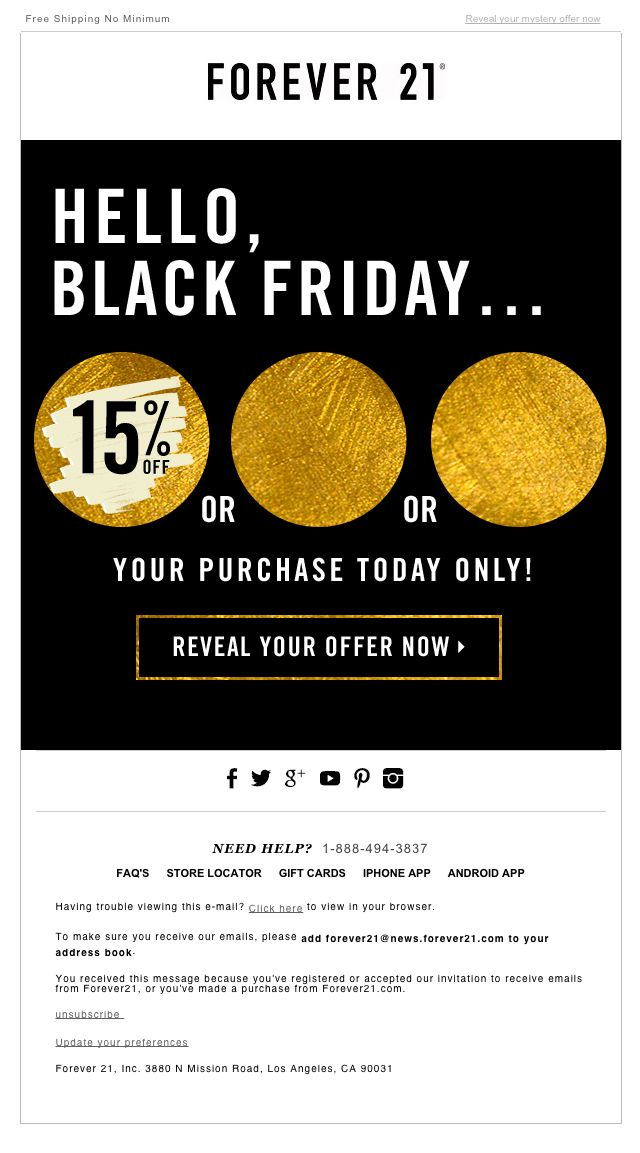 forever 21 email