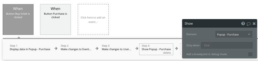 Closing a no-code popup element