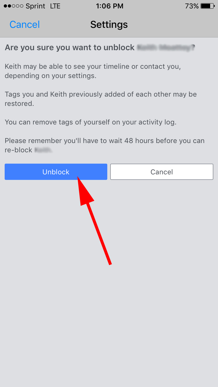 how to unblock sending friend request on facebook