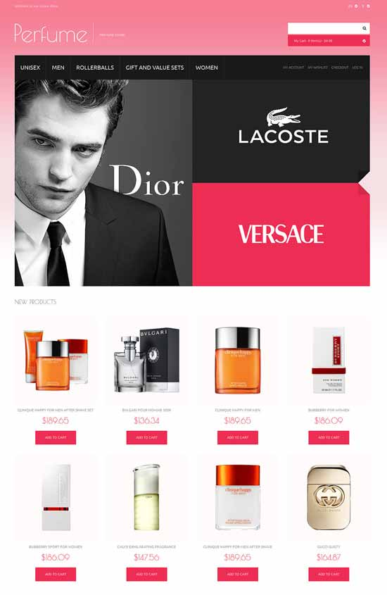 Choice of Perfumes Online Magento theme