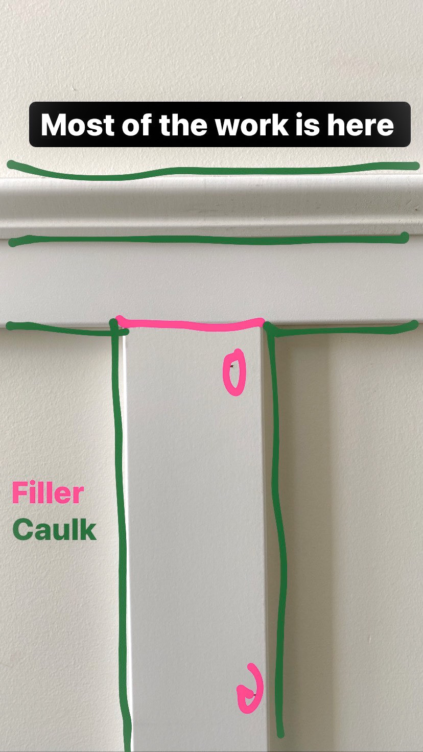 How to caulk and fill board and batten