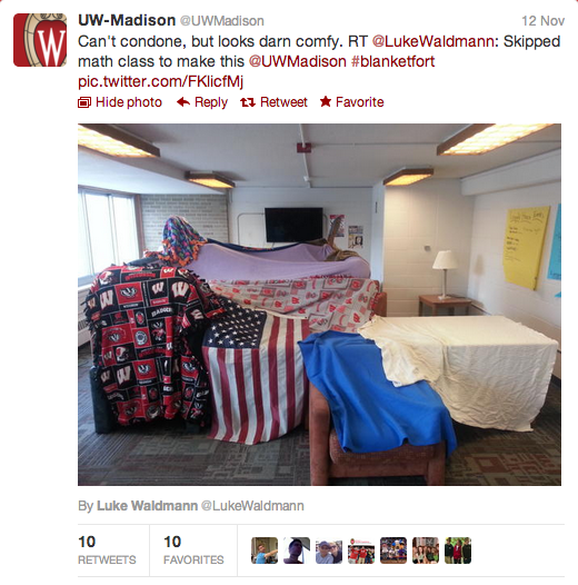 University Wisconsin Madison, Tweet